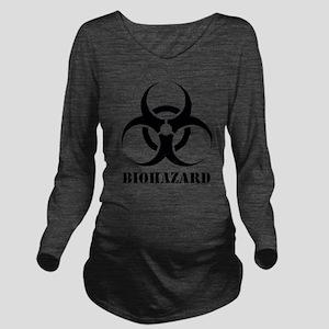 Biohazard Long Sleeve Maternity T-Shirt