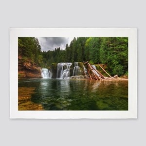 Lower Falls Lewis River 5'x7'Area Rug