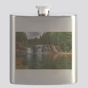 Lower Falls Lewis River Flask