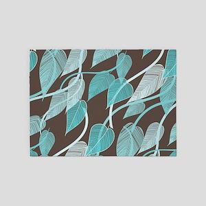 Leaves Pattern 5'x7'Area Rug