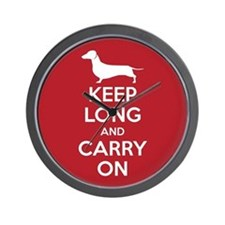 Keep Long and Carry On Wall Clock