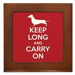 Keep Long and Carry On Framed Tile