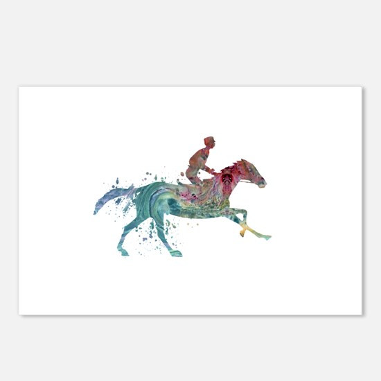Horse and jockey Postcards (Package of 8)
