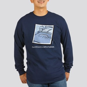 Dachshund Native Habitat Long Sleeve Dark T-Shirt
