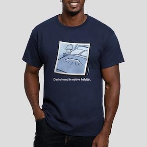 Dachshund Native Habitat Men's Fitted T-Shirt (dar