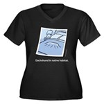 Dachshund Native Habitat Women's Plus Size V-Neck