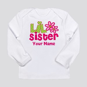 Lil Sister Pink Green Long Sleeve T-Shirt
