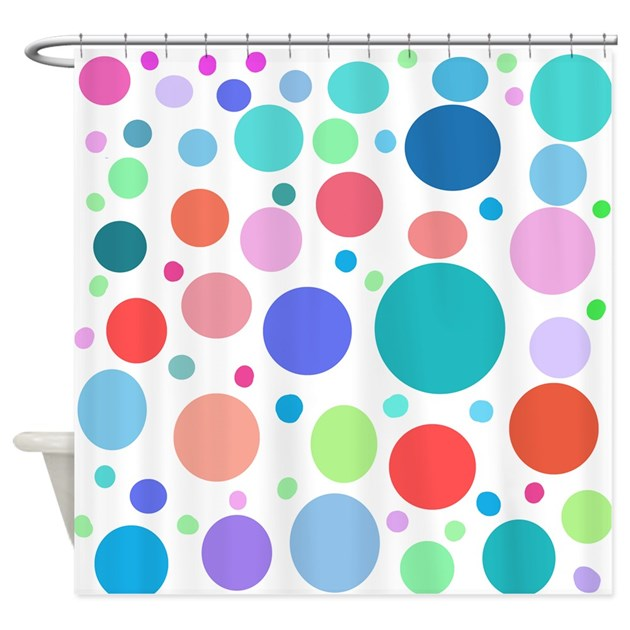 Multi Colored Polka Dots Shower Curtain By Laughoutlouddesigns1