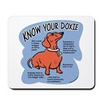 Know your dachshund Mousepad