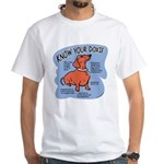 Know your dachshund White T-Shirt