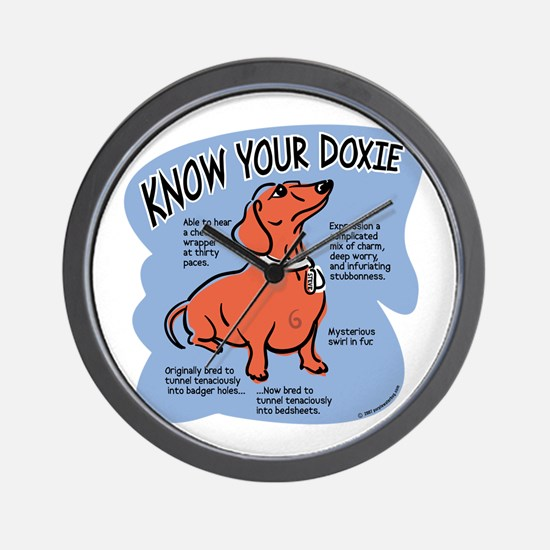 Know your dachshund Wall Clock
