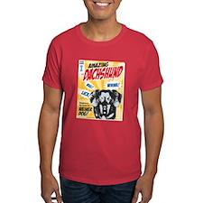 Amazing Dachshund Comics Dark T-Shirt