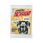 Amazing Dachshund Comics Rectangle Magnet