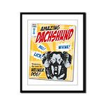 Amazing Dachshund Comics Framed Panel Print