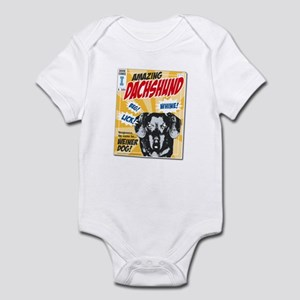 Amazing Dachshund Comics Infant Bodysuit