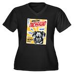 Amazing Dachshund Comics Women's Plus Size V-Neck