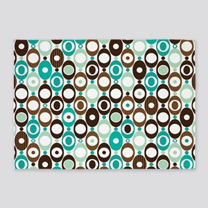Retro Circles 5'x7'Area Rug
