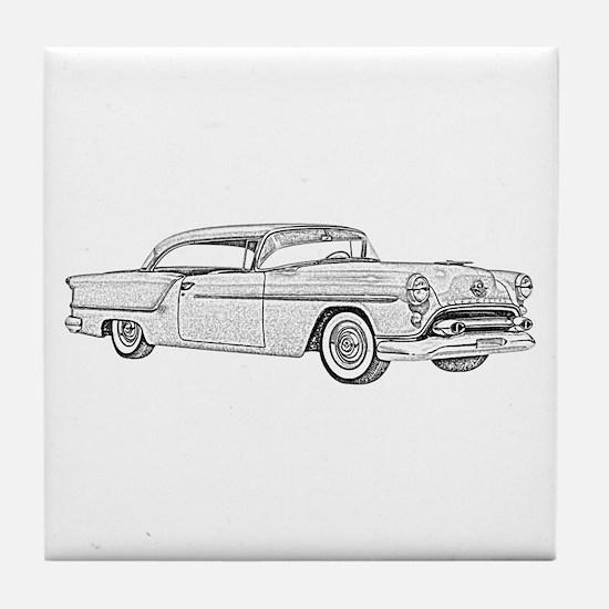 1954 car Tile Coaster
