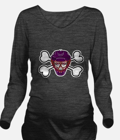 hockey skull crossbones.png Long Sleeve Maternity