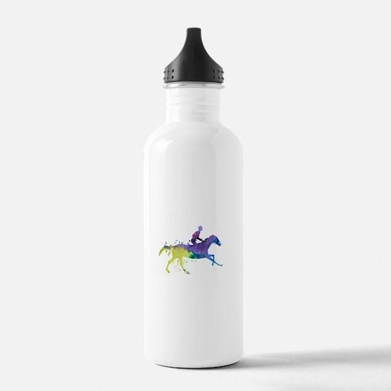 Horse and jockey Sports Water Bottle