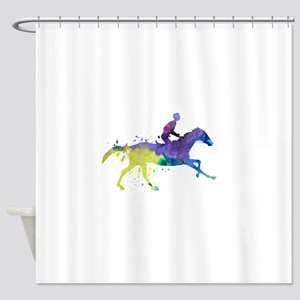 Horse and jockey Shower Curtain