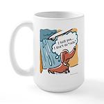 Dachshunds hate rain Large Mug