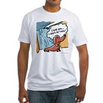 Dachshunds hate rain Fitted T-Shirt