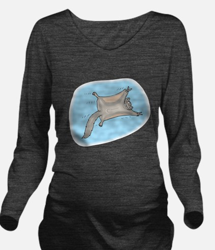 funny flying squirrel.png Long Sleeve Maternity T-