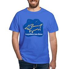 Dachshund constellation Canis Dark T-Shirt