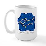 Dachshund constellation Large Mug