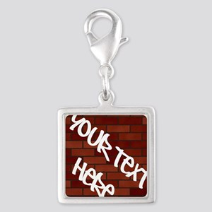 Writings on the wall Silver Square Charm