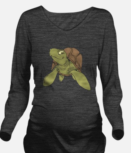 grinning sea turtle.png Long Sleeve Maternity T-Sh