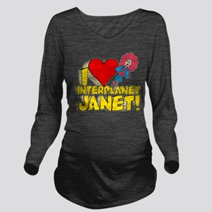 I Heart Interplanet Janet! Long Sleeve Maternity T