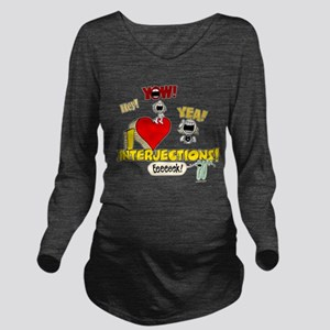 I Heart Interjections Long Sleeve Maternity T-Shir