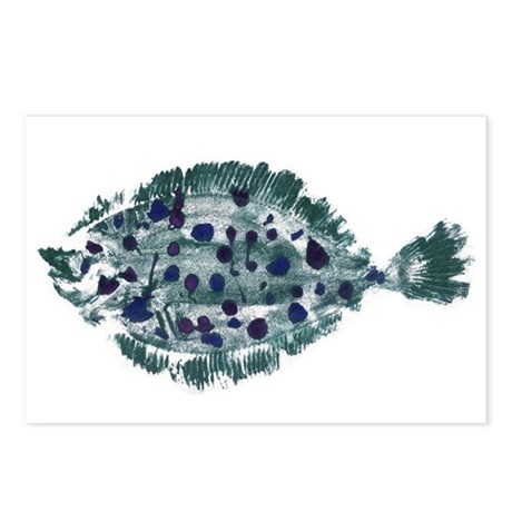Flounder Postcards (Package of 8)