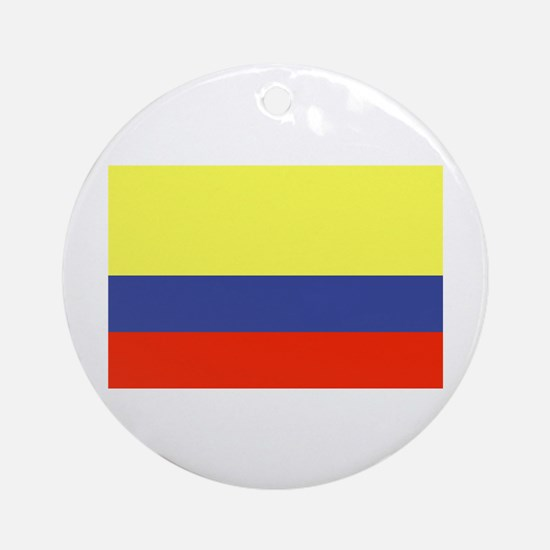 Colombian Flag Ornament (Round)