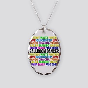 Ballroom Words Necklace Oval Charm