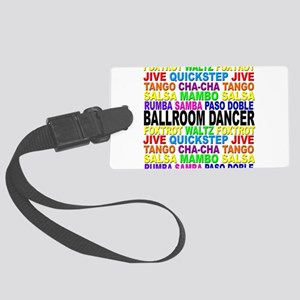 Ballroom Words Large Luggage Tag