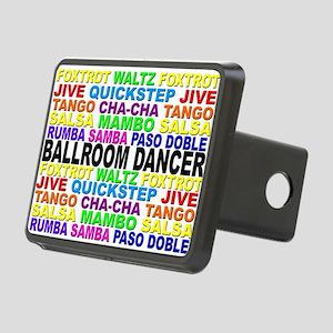 Ballroom Words Rectangular Hitch Cover
