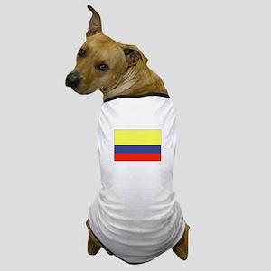 Colombian Flag 5 Dog T-Shirt