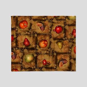 Fruit Collage Pattern Throw Blanket