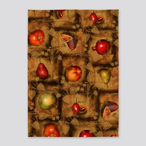 Fruit Collage Pattern 5'x7'Area Rug