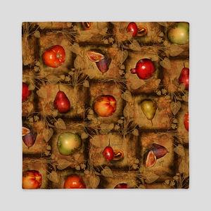 Fruit Collage Pattern Queen Duvet