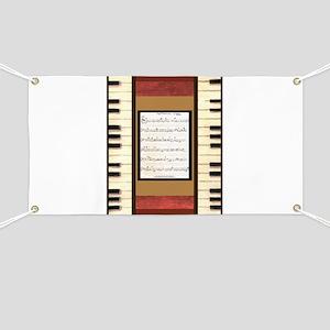 Piano Keys Sheet Music Song K. Hubler Banner