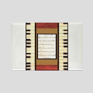 Piano Keys Sheet Music Song K. Hubler Magnets