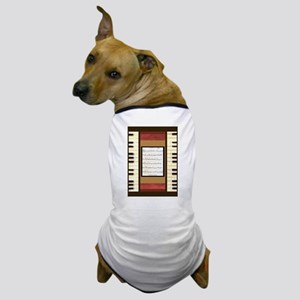 Piano Keys Sheet Music Song K. Hubler Dog T-Shirt