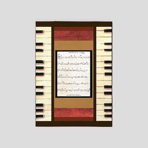 Piano Keys Sheet Music Song K. Hubler 5'x7'Area Ru