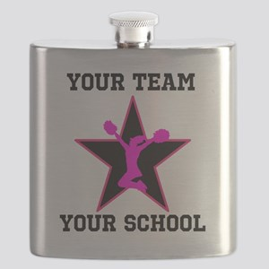 Custom pink and black cheerleading Flask