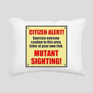 Citizen Alert! Mutants! Rectangular Canvas Pillow