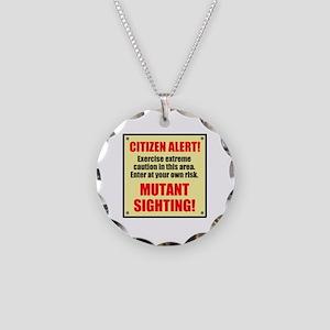 Citizen Alert! Mutants! Necklace Circle Charm